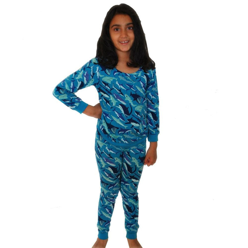 Shark Species Kids Pajamas Set