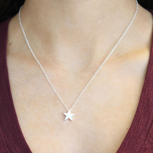 Silver Star Choker Necklace