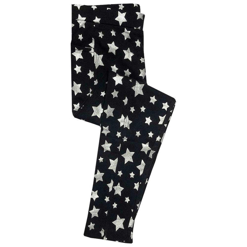 Starry Night Sparkles Kids Leggings with Pockets