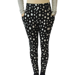 Starry Night Sparkles Adults Cotton Leggings With Pockets Final Sale Svaha Apparel