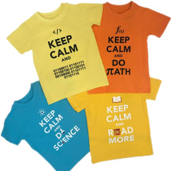 'Keep Calm and Learn' Kids T-Shirt Bundle - 4-Pack ($80 Value)