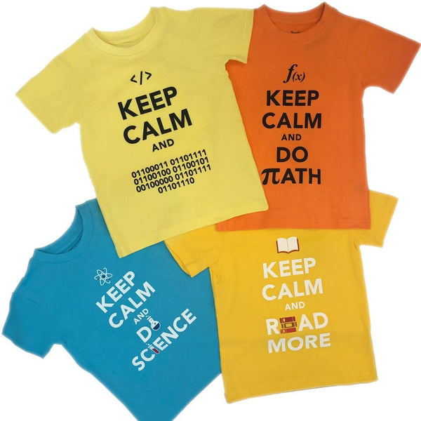 'Keep Calm and Learn' Kids T-Shirt Bundle - 4-Pack