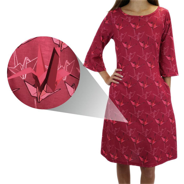 Augmented Reality: Paper Crane in Flight Curie Dress