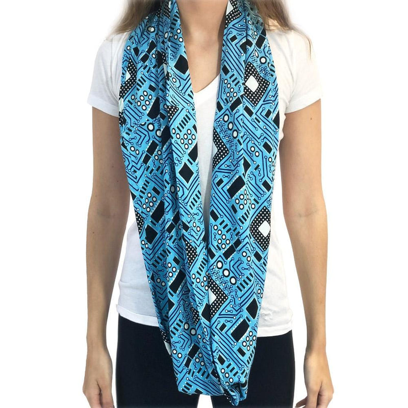 Circuit Board Infinity Scarf