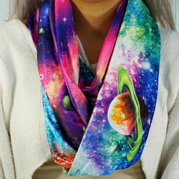 Neon Pop Galaxy Infinity Scarf