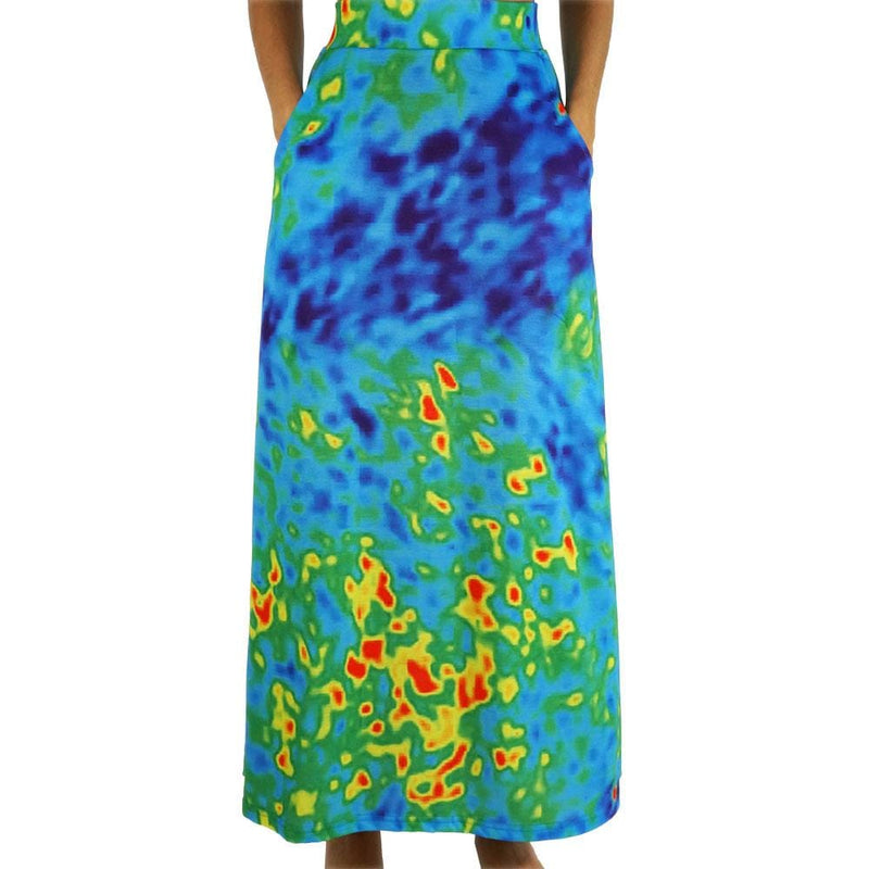 Radiant Cosmic Colors Maxi Skirt