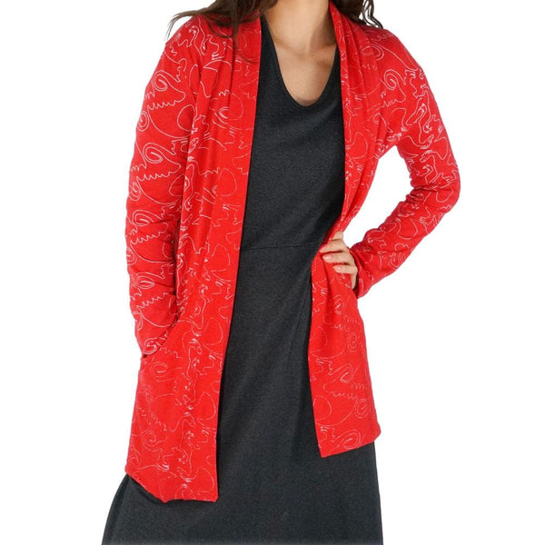 Fly Into Fantasy Burnout Cardigan