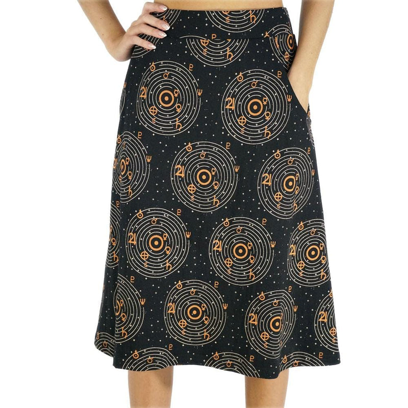Astronomical Symbols Glow-in-the-Dark A-Line Skirt