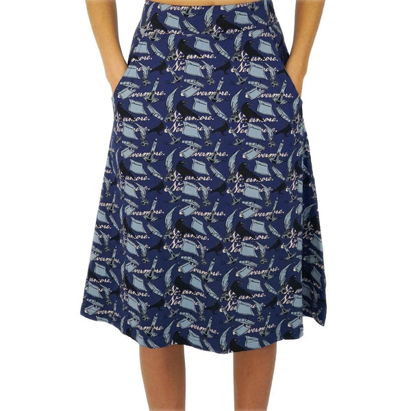 "Poe's ""The Raven"" A-Line Skirt"