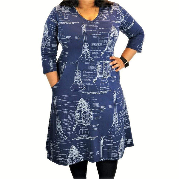 Apollo Blueprint All-Over-Print Rosalind Dress