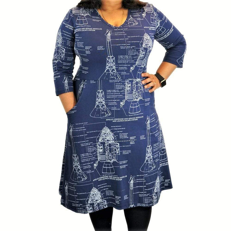 Apollo Blueprint All-Over-Print Rosalind Dress [FINAL SALE]