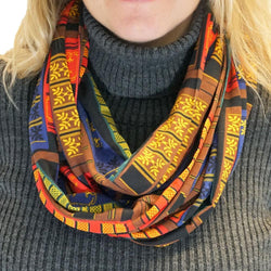 Book Spines Infinity Scarf