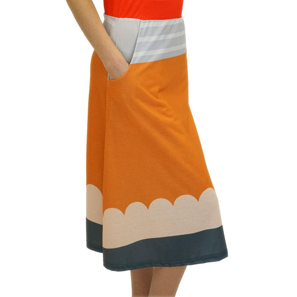 No. 2 Pencil A-Line Midi Skirt