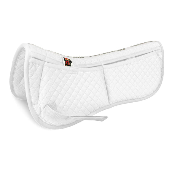 Cotton Correction Half Pad - White