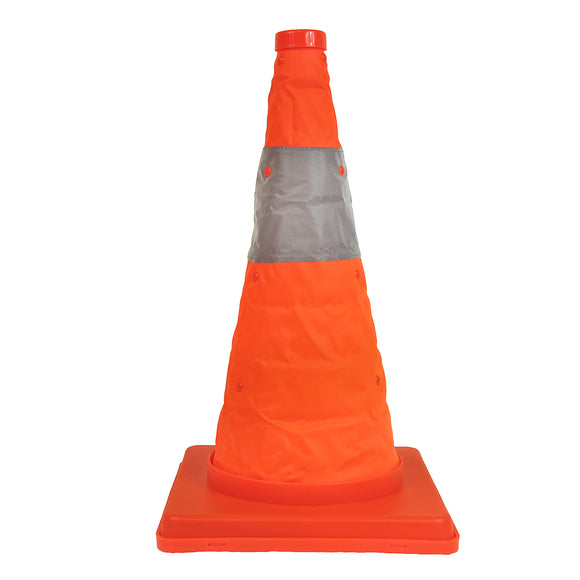 Traffic Safety Cone - Collapsible with Safety Light