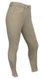RideTex® Knee Patch Competition Breeches - Tan - RideTex Apparel - Equine Comfort Products