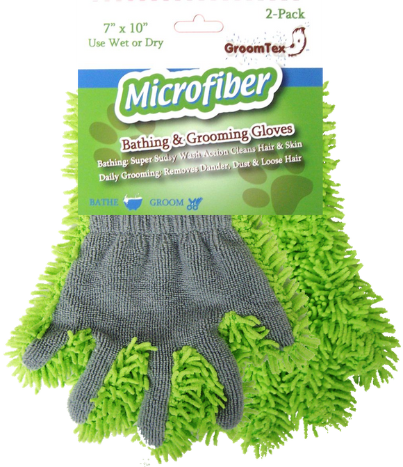 GroomTex Microfiber Cleaning Glove 2-Pack - Grooming & Accessories - Equine Comfort Products