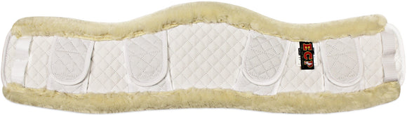 Contoured Faux Shearling Girth Cover - Girth Covers - Equine Comfort Products
