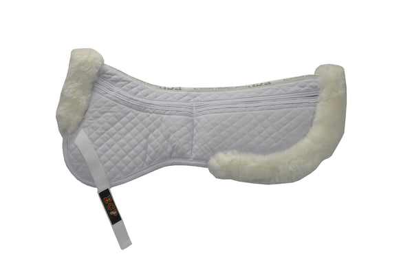 Deluxe Sheepskin Correction Half Pad - Sheepskin & Wool Saddle Pads - Equine Comfort Products
