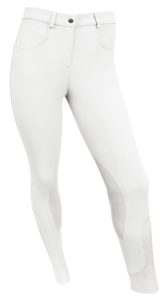 RideTex® Knee Patch Competition Breeches - White - RideTex Apparel - Equine Comfort Products