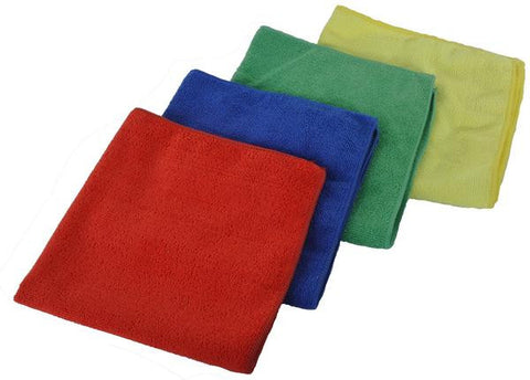 "Microfiber Towels - 16"" x 16"" in 4 Colors (12-Pack) - Grooming & Accessories - Equine Comfort Products"