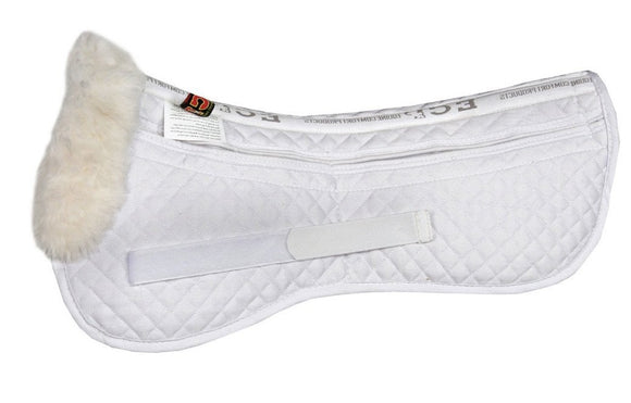 Comfort Fleece™ Correction Half Pad - Sheepskin & Wool Saddle Pads - Equine Comfort Products