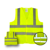High Visibility Flourescent Safety Vest - Class 2 - Mesh - Safety - Equine Comfort Products