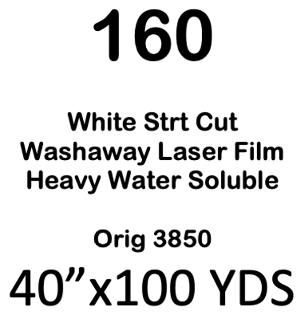 160- Clear-Washaway Laser Film 1.77  OZ