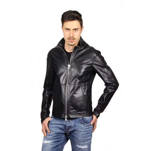 Emporio Armani mens leather jacket R1R20P R1P28 999 - Haute Milan