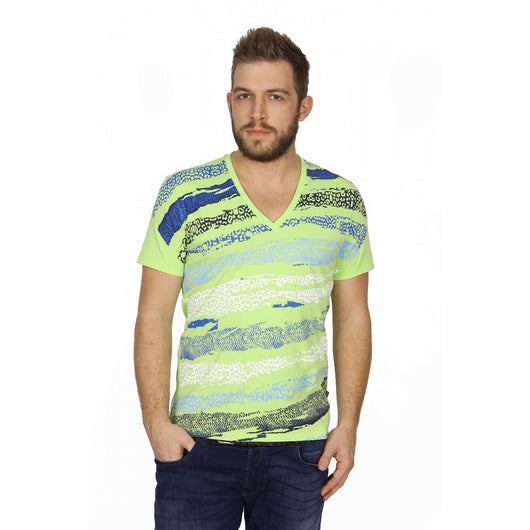 Just Cavalli mens t-shirt V neck S03GC0167 N20483 913 - Haute Milan