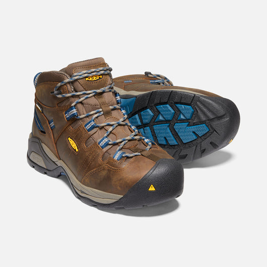 KEEN Men's Detroit Mid XT Brown Steel Toe EH