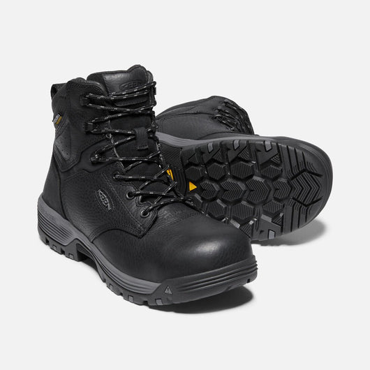 KEEN Men's Chicago Mid Black Carbon Fibre Toe EH
