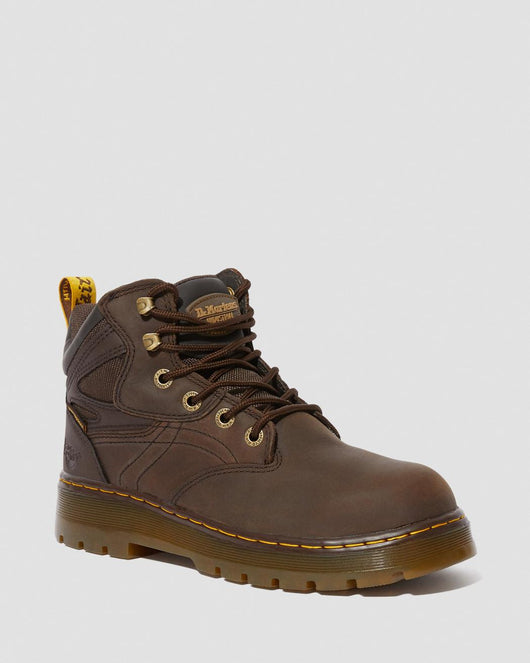 Dr. Martens Plenum Brown Steel Toe