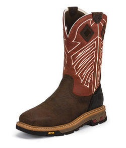 Justin Roughneck Red Steel Toe Waterproof WK2115