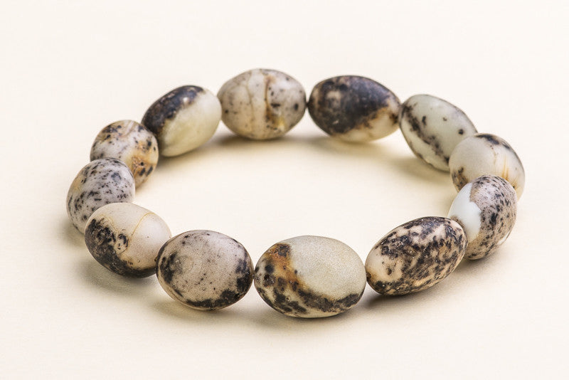 "Unique quail egg color natural Baltic amber bracelet ""Sempiternal II"""