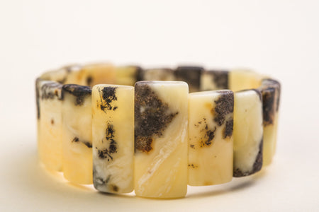 "Baltic amber rectangle bead bracelet ""Myrrh I"""