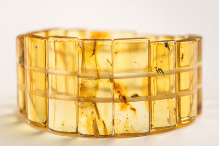 "Baltic Amber insect inclusion bracelet ""Ancient III"""