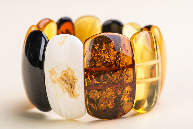 "Multicolor Amber Stone Bracelet ""Tranquil"""