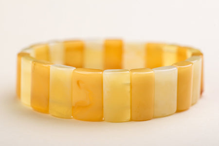 "Baltic amber rectangle bead bracelet ""Sundrops"""