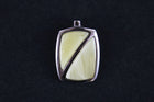 Sterling silver pendant with white amber stone