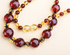 Polished faceted beads Baltic amber necklace