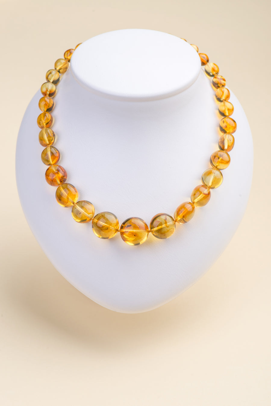 "Natural Baltic Amber Insect Inclusion Necklace ""Honey III"""