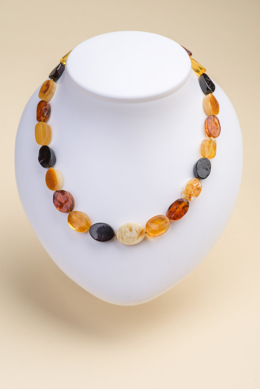 "Multicolor Baltic Amber Necklace ""Comely"""