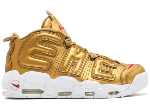 "Supreme x Nike Air More Uptempo ""Gold"""