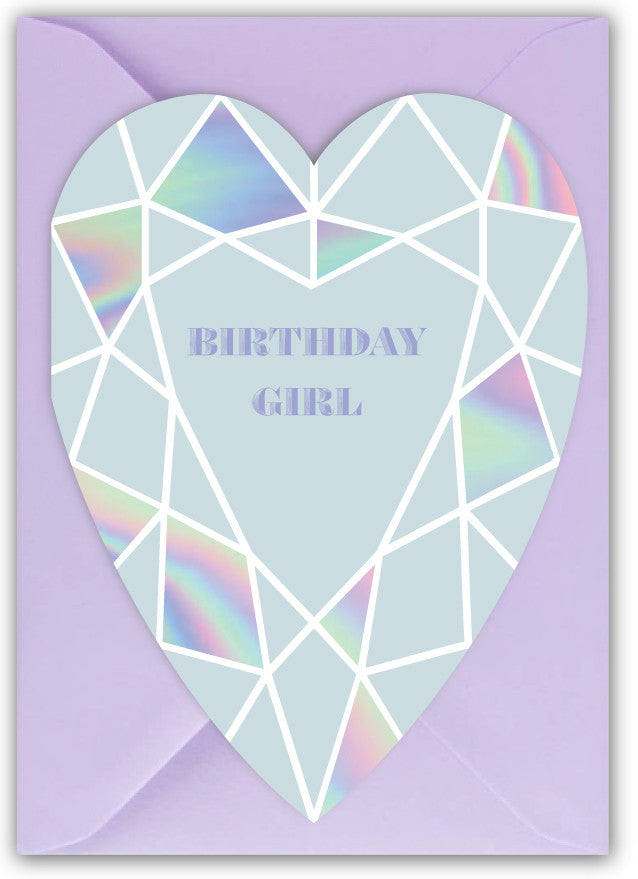 Birthday Girl Heart Gem