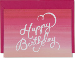 Happy Birthday Ombre Mini Card
