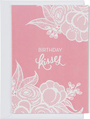 Birthday Kisses Lace Card