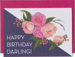 Happy Birthday Darling Mini Card