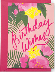 Tropical Birthday Wishes Mini Card