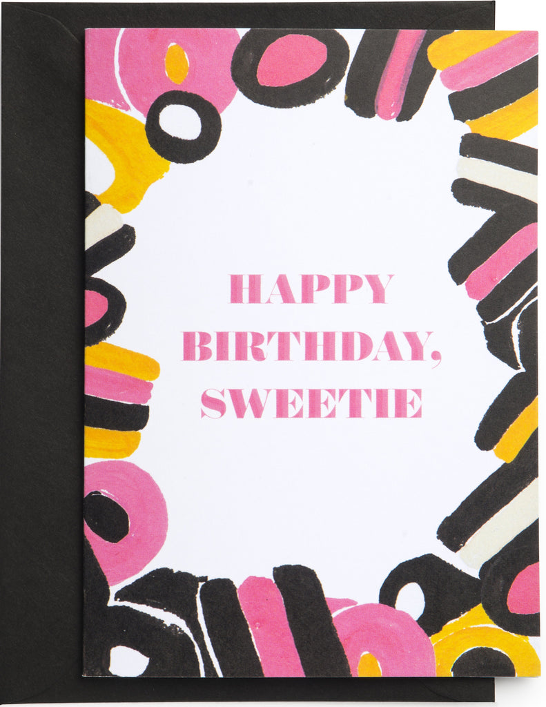 Birthday Sweetie Licorice Mini Card